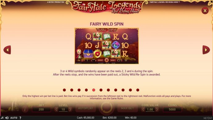 Fairytale Legends Red Riding Hood by No Deposit Casino Guide