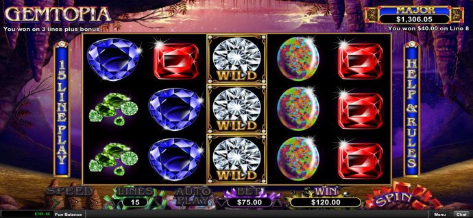 Stacked wilds triggers a re-spin by No Deposit Casino Guide