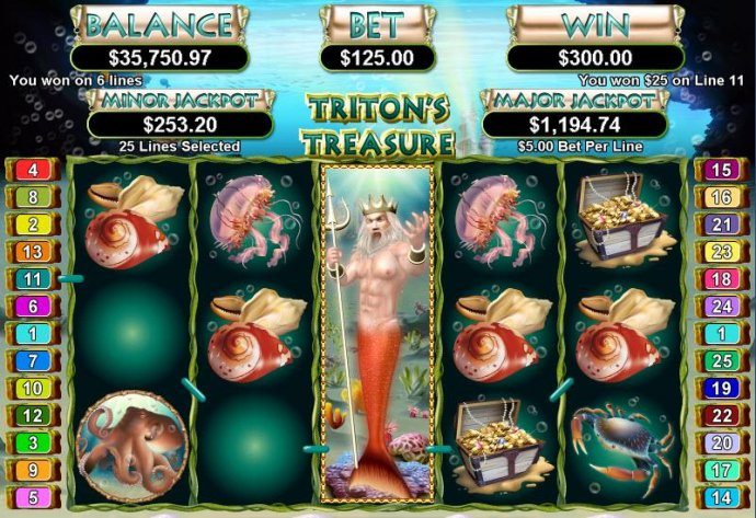 No Deposit Casino Guide image of Triton's Treasure