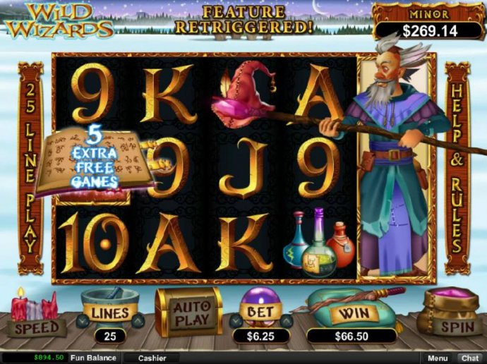 Five extra free games awarded. by No Deposit Casino Guide