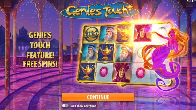 No Deposit Casino Guide - Splash screen - game loading - Free Spins!
