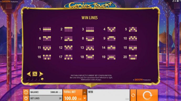 No Deposit Casino Guide image of Genie's Touch