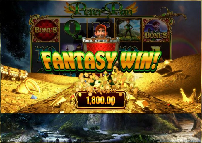 Finding Neverland bonus pays 1,800.00 for a big win. - No Deposit Casino Guide