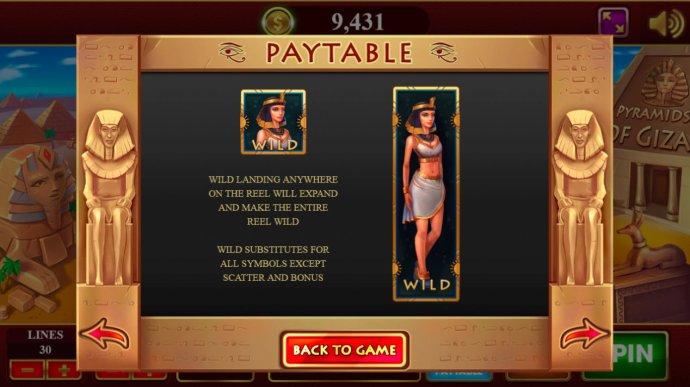 No Deposit Casino Guide image of Pyramids of Giza