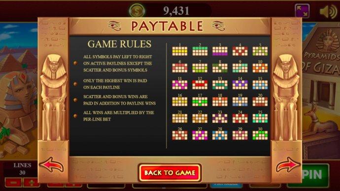 Paylines 1-30 - No Deposit Casino Guide