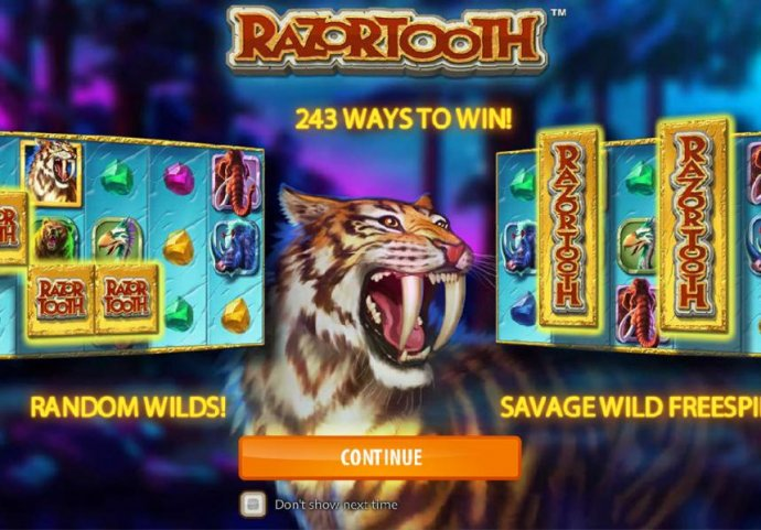 game features include 243 ways to win, Random Wilds and Savage Wild Respins - No Deposit Casino Guide