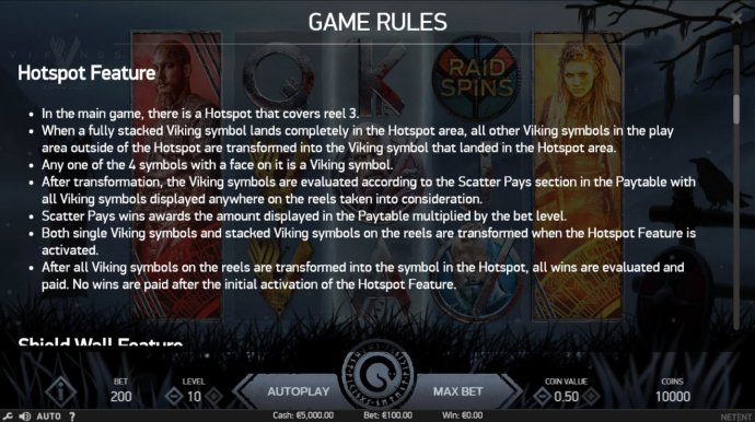 Feature Rules by No Deposit Casino Guide