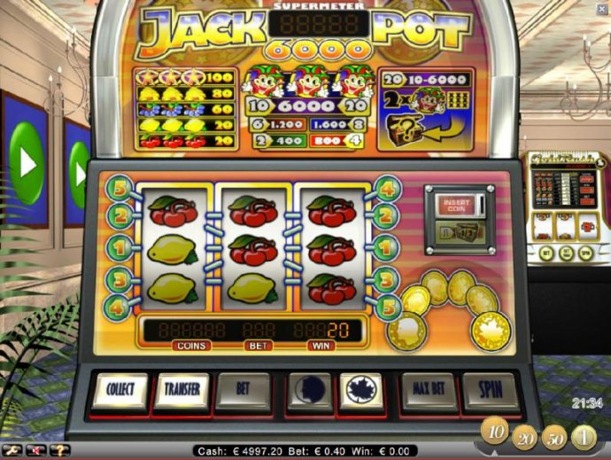 multiple winning paylines triggers a 20 coin jackpot - No Deposit Casino Guide