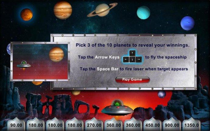 Pick 3 plantes to reveal prize amounts - No Deposit Casino Guide