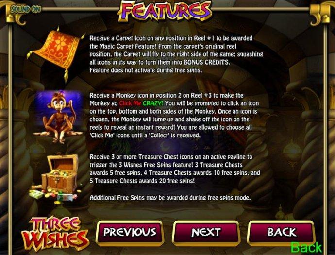 No Deposit Casino Guide image of Three Wishes