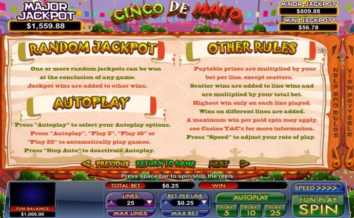 Random Jackpot Rules and General Game Rules - No Deposit Casino Guide