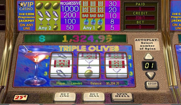 Triple Olives by No Deposit Casino Guide