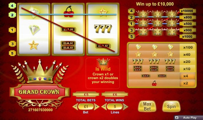 typical winning slot play by No Deposit Casino Guide
