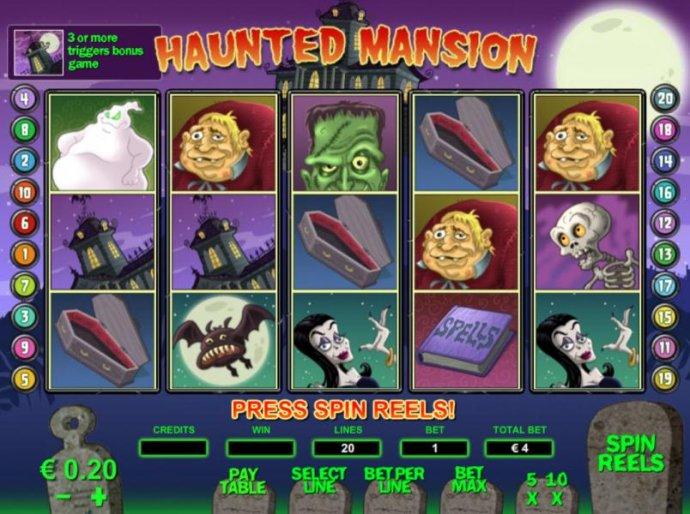 No Deposit Casino Guide image of Haunted Mansion