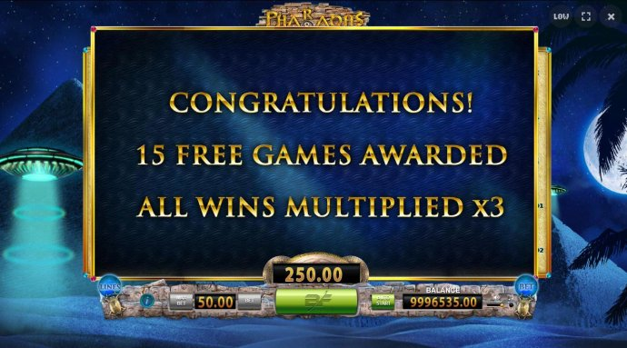 15 free games awarded with all wins multiplied by x3. - No Deposit Casino Guide