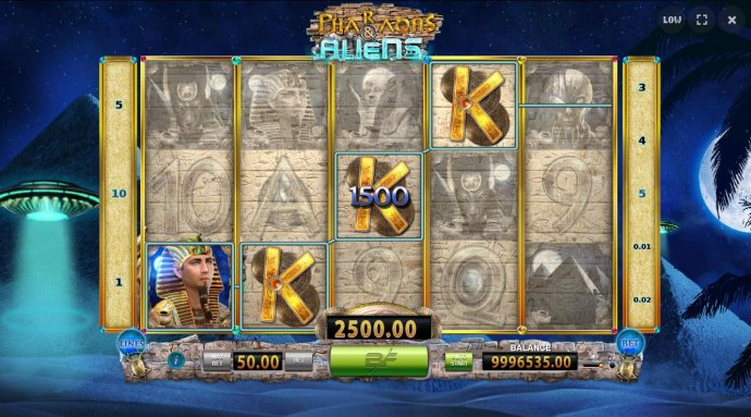 A winning Four of a Kind leads to a 2,500.00 big win during the free games feature. - No Deposit Casino Guide