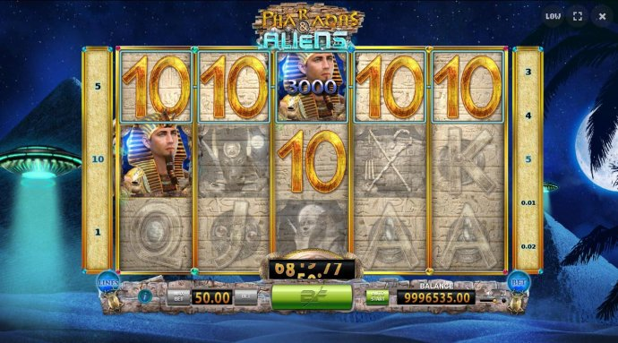A 3,000.00 jackpot triggered by a five of a kind. - No Deposit Casino Guide