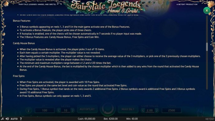 Fairytale Legends Hansel & Gretel by No Deposit Casino Guide