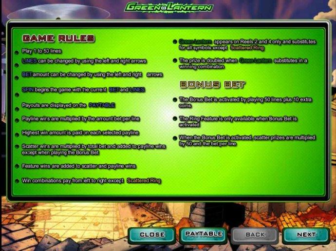No Deposit Casino Guide - game rules and bonus bet rules