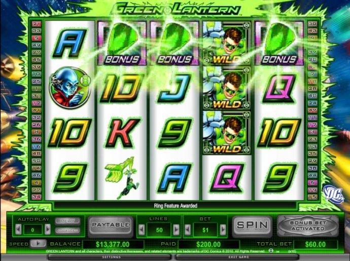 three bonus ring symbols triggers ring feature by No Deposit Casino Guide