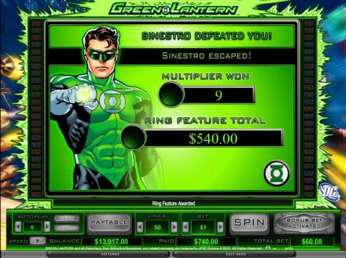 Green Lantern by No Deposit Casino Guide