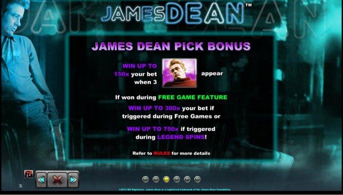 No Deposit Casino Guide image of James Dean