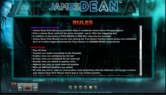 James Dean by No Deposit Casino Guide