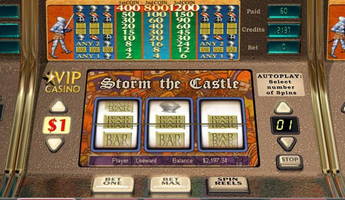 No Deposit Casino Guide image of Storm the Castle