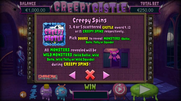 No Deposit Casino Guide image of Creepy Castle