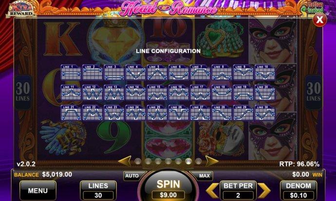 No Deposit Casino Guide image of Heart of Romance