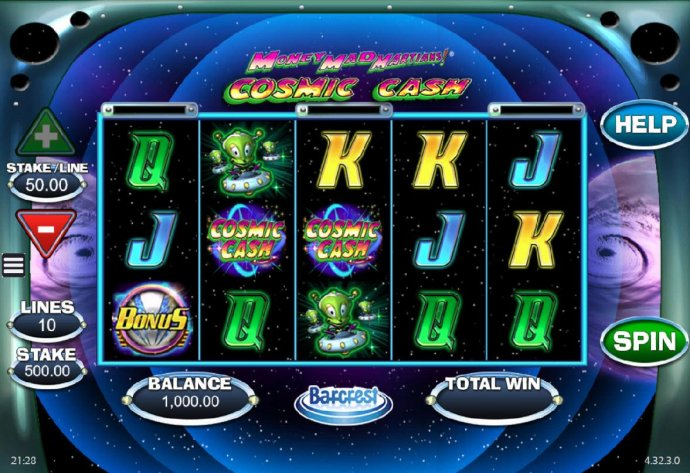 No Deposit Casino Guide image of Money Mad Martians Cosmic Cash