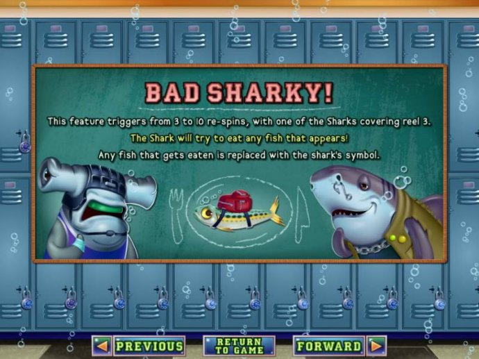 Bad Sharky bonus feature rules - No Deposit Casino Guide