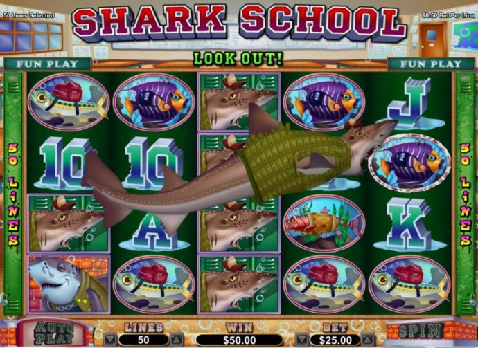 No Deposit Casino Guide image of Shark School