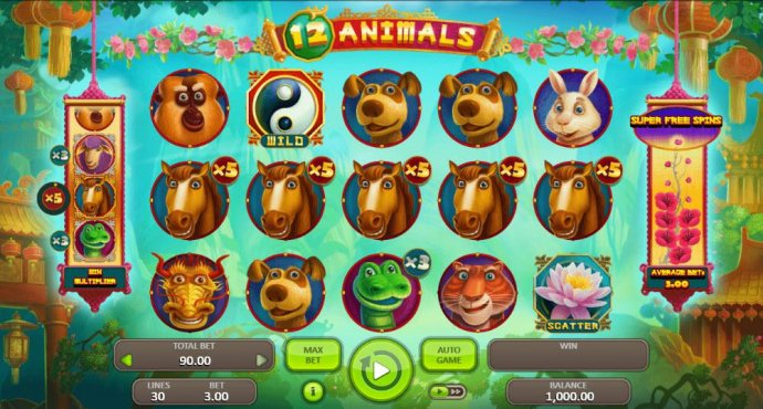 12 Animals by No Deposit Casino Guide