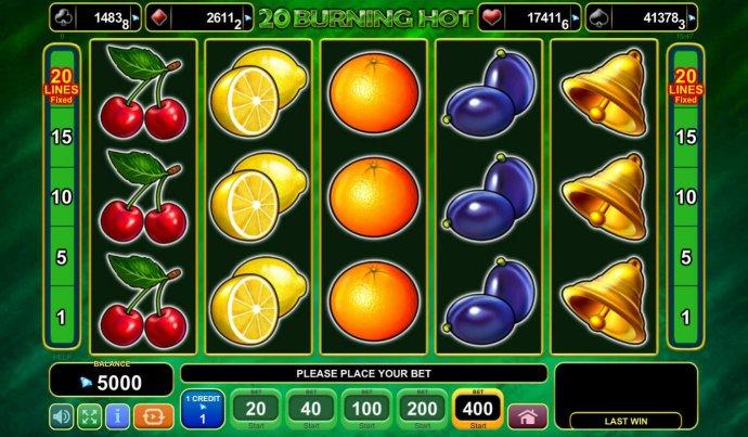 20 Burning Hot by No Deposit Casino Guide