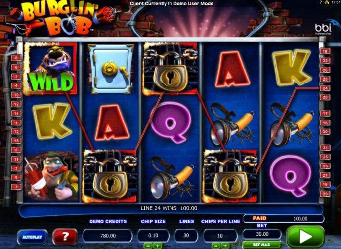 No Deposit Casino Guide image of Burglin' Bob