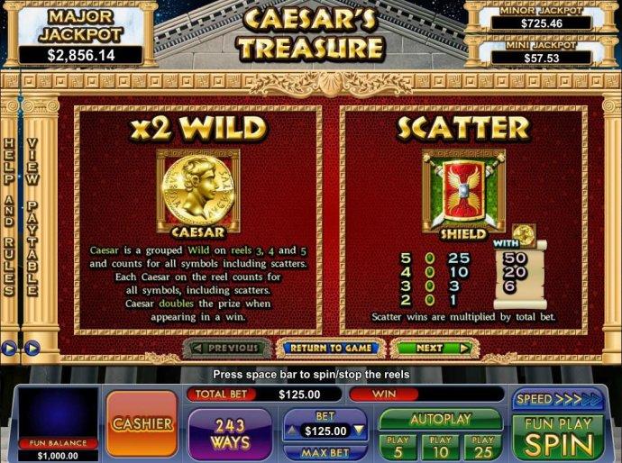 Caesar's Treasure by No Deposit Casino Guide