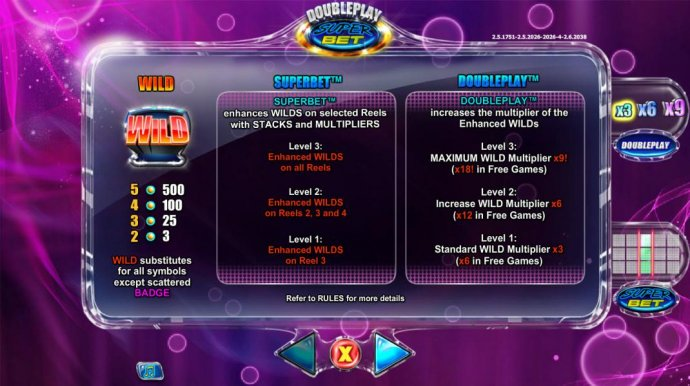 Wild symbol paytable and superbet and doubleplay rules. - No Deposit Casino Guide