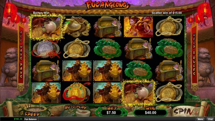 No Deposit Casino Guide - God of Wealth and Dragon Pearl scatters trigger winning combinations.