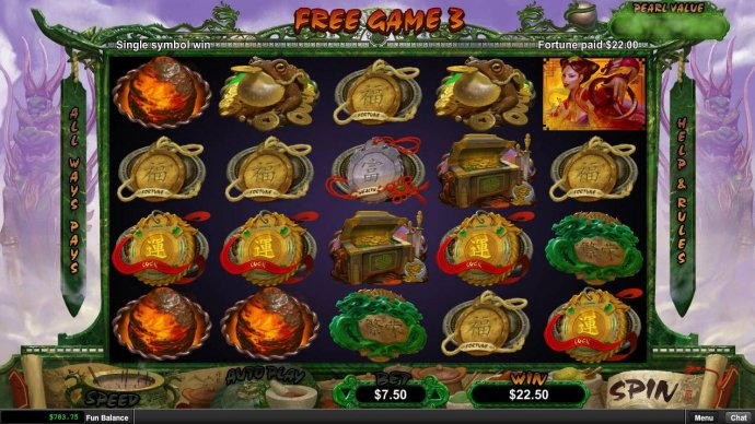 Multiple winning combinations triggers a 22.00 payout. by No Deposit Casino Guide