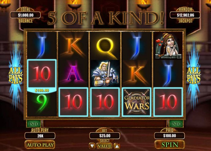 A winning five of a kind - No Deposit Casino Guide