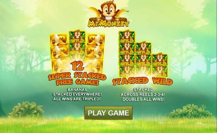 No Deposit Casino Guide - 12 Super Stacked Free Games - Bananas Stacked everywhere! All wins are tripled!