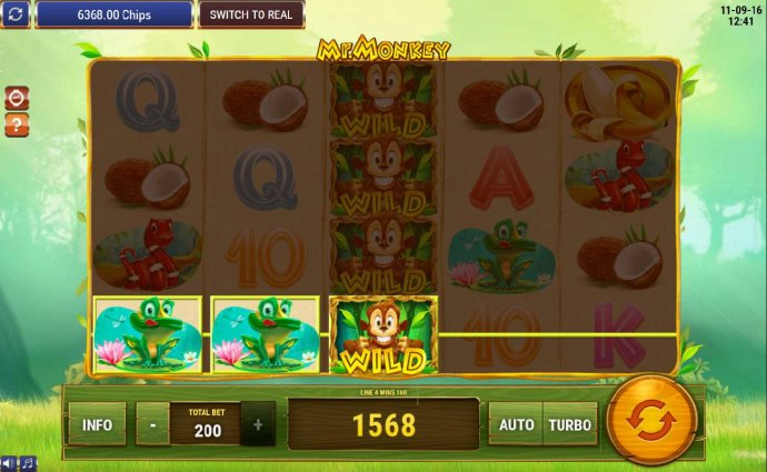 Multiple winning paylines triggers a 1568 coin big win! - No Deposit Casino Guide