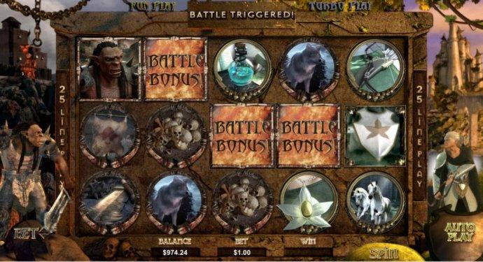 battle bonus triggered by No Deposit Casino Guide