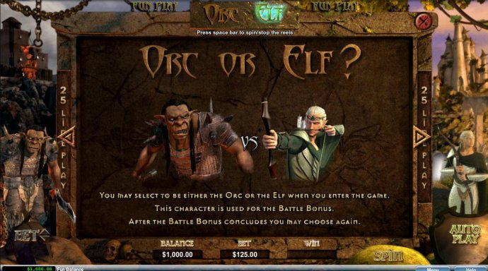 No Deposit Casino Guide image of Orc vs Elf