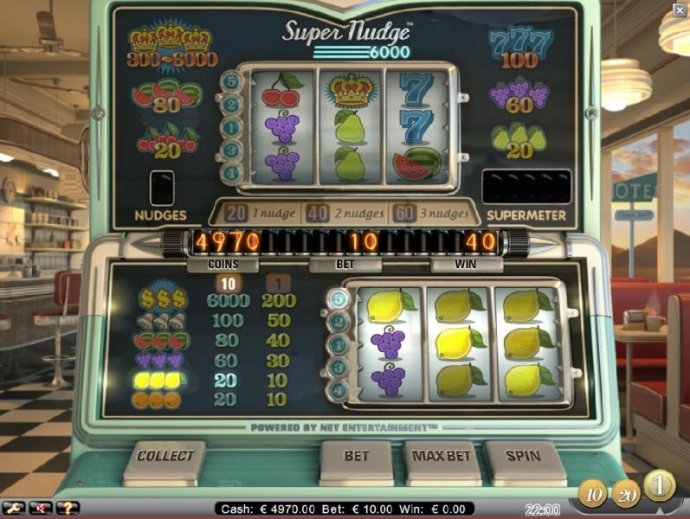 multiple winning paylines triggers a 40 coin payout - No Deposit Casino Guide