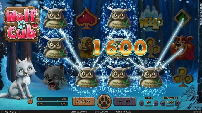 Multiple winning paylines triggers a 1,600.00 big win! by No Deposit Casino Guide