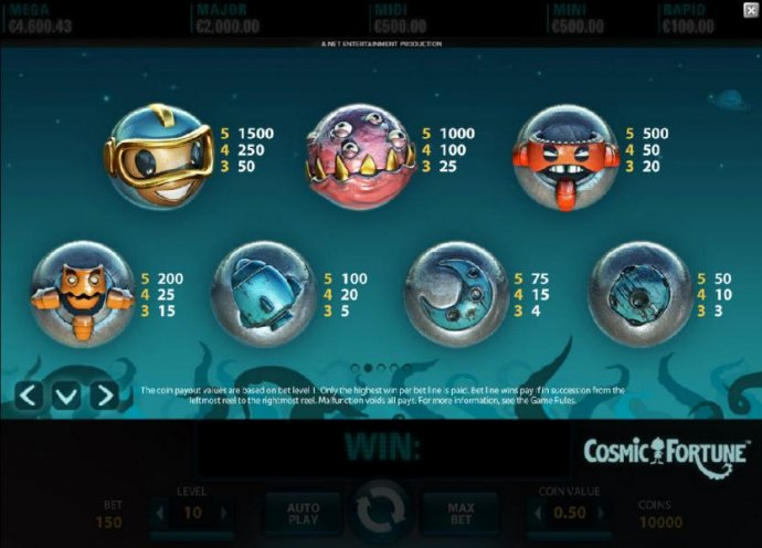 Cosmic Fortune by No Deposit Casino Guide