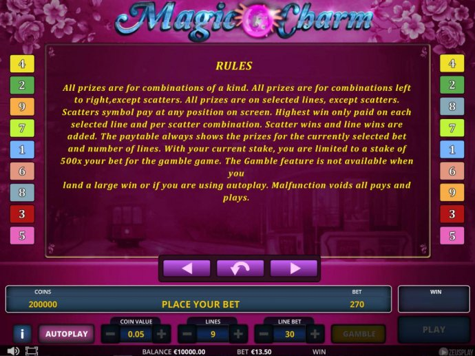 No Deposit Casino Guide image of Magic Charm