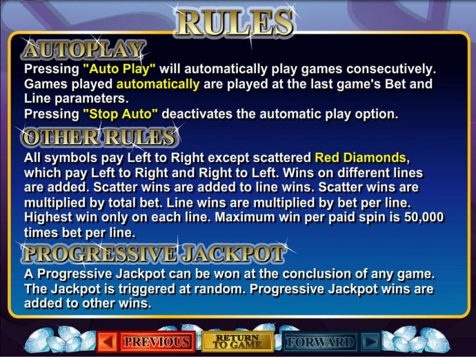 No Deposit Casino Guide - Progressive Jackpot Rules and General Game Rules